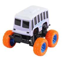 monstertruck bus jongens 9 cm staal paars/oranje
