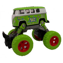 monstertruck pull-back 11,5 cm staal groen