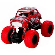 monstertruck jongens 12 cm staal rood/wit