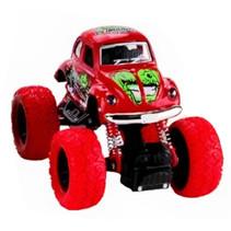 monstertruck jongens 12 cm staal rood/groen