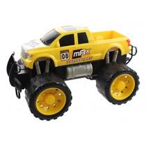 monstertruck Friction Power jongens 29,5 cm geel