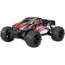 RC monstertruck 1:18. X-Desert Sandy Land 23 cm rood/zwart