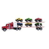 vrachtwagen jeeptransporter rood 1:32