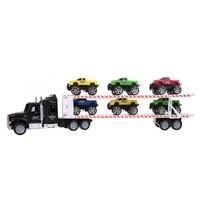 vrachtwagen jeeptransporter zwart 1:32