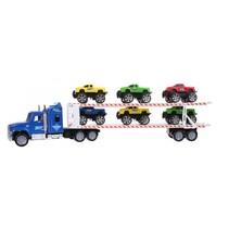 vrachtwagen jeeptransporter blauw 1:32