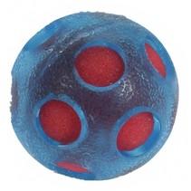 splashbal met spons 14 cm blauw