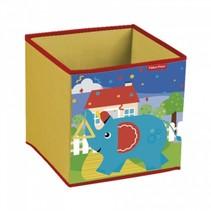 opbergbox olifant 31 x 31 x 31 cm geel
