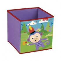 opbergbox aap 31 x 31 x 31 cm paars
