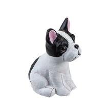 beeldje hond 5 cm wit/zwart