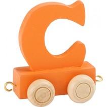 treinletter C oranje 6,5 cm