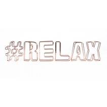 decoratie draadletters 3D #relax