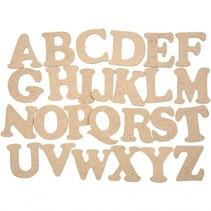 houten letters alfabet 4 cm 26 stuks