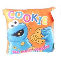 kussen Sesamstraat Cookie Monster 30 cm