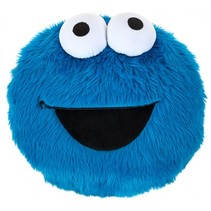 kussen Cookie Monster blauw 30 cm