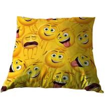 kussen Emoji de film 35 x 35 cm geel
