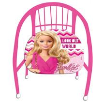 kinderstoel meisjes 36 cm staal/polyester roze