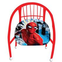 kinderstoel Spider-Man junior 36 cm staal rood/blauw