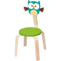 stoel Uil Lou 33 x 33 x 65 cm hout groen
