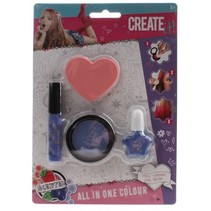 All in one make-up set 4-delig paars