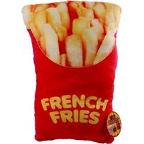 kussen Fast Foodies frites 30 cm rood/geel