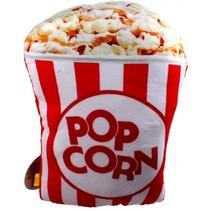 kussen Fast Foodies popcorn 30 cm rood/wit