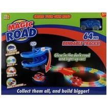 racebaan Magic Road 64-delig blauw
