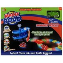 racebaan Magic Road 64-delig groen