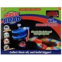 racebaan Magic Road 64-delig rood