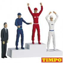Formule 1 Winnaarspodium met 4 poppen 5,5 cm