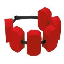 zwemgordel 6 drijvers 30 tot 60 kg rood