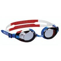 zwembril Arica polycarbonaat junior blauw/wit/rood