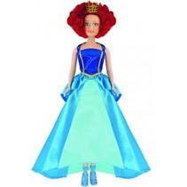 Prinsessia tienerpop Violet meisjes 20 cm blauw
