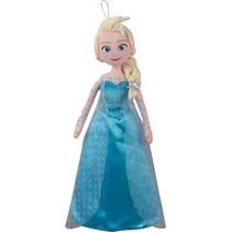 knuffel/pyjamazak Frozen 48 cm meisjes lichtblauw