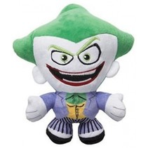 knuffel in cadeaubox The Joker pluche 20 cm paars/groen