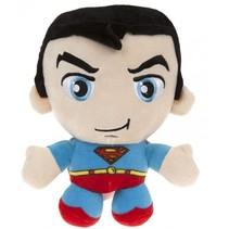 knuffel in cadeaubox Superman pluche 20 cm blauw