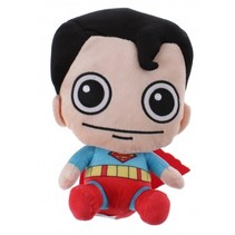 Gift-knuffel Superman pluche 15 cm rood/blauw