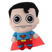 knuffel Superman pluche 18 cm rood/blauw