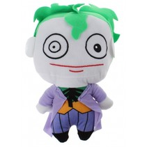 knuffel Joker pluche 25 cm paars/wit