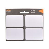 etiketten textiel wit/grijs 8 stuks