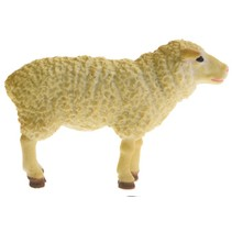 boerderijdier schaap Farm Life 8 cm beige