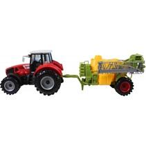 tractor speelset 2-delig 44 cm rood