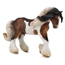 Paarden: Tinker hengst gevlekt 18 x 13 cm