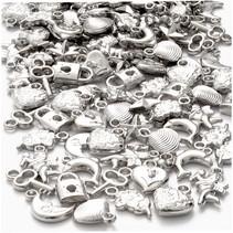 bedels 1,5 - 2 cm 180 stuks zilver