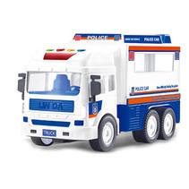 politiewagen junior 25 cm blauw/wit