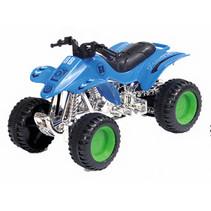 quad Modern City junior 12 cm staal blauw