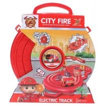 speelset brandweer in opruimbox rood 33 cm