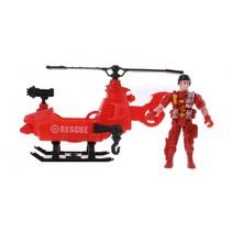 speelset rescue team 8 rood 24 cm