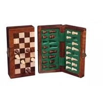 magnetisch schaakspel opklapbaar 9 x 17 cm