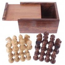 houten schaakstukken koning 76 mm bruin