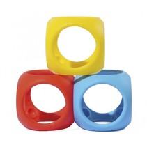 soft-grip ballen 3-delig rood/blauw/geel